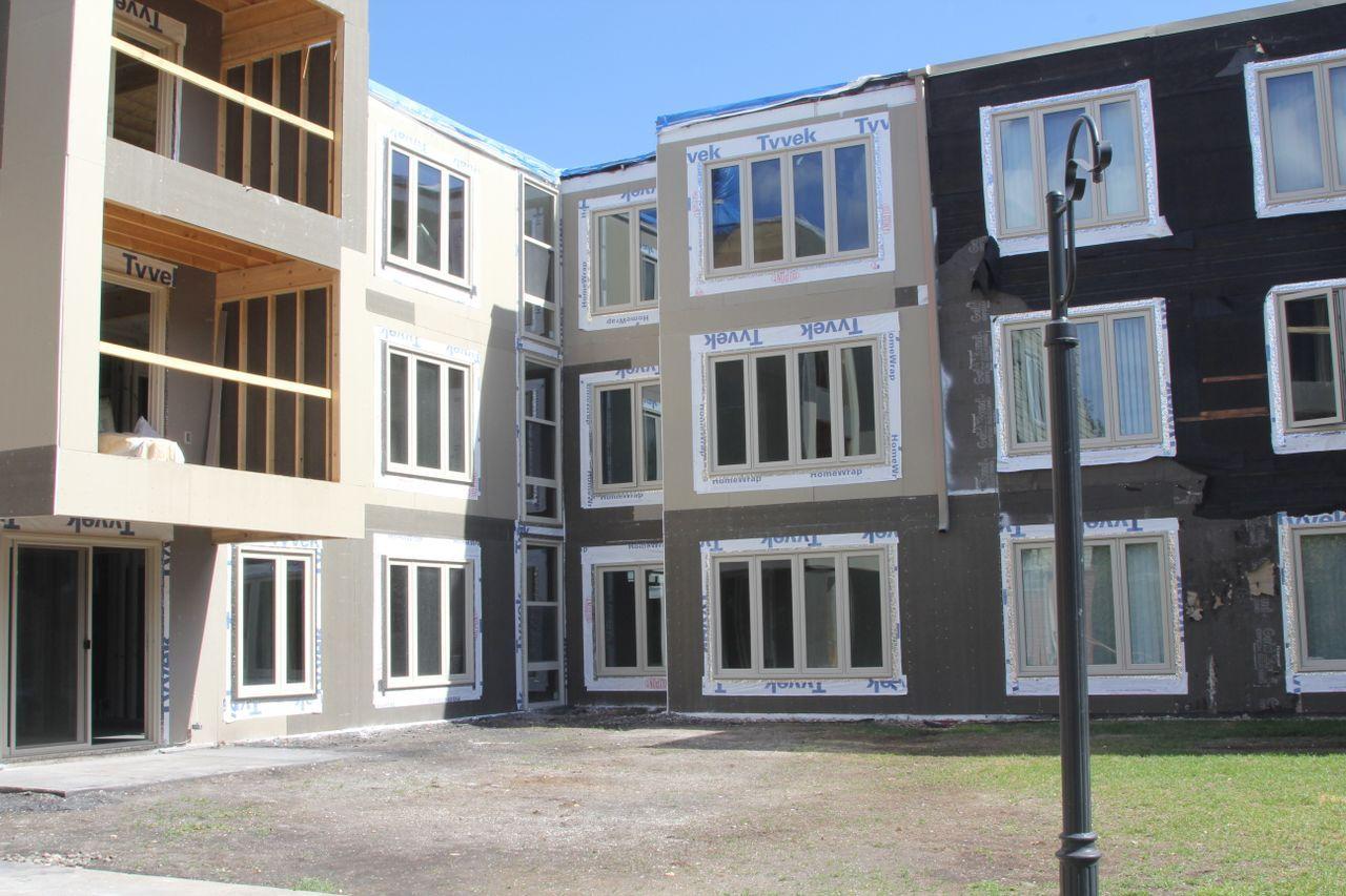 Facade halfway complete facade property restoration