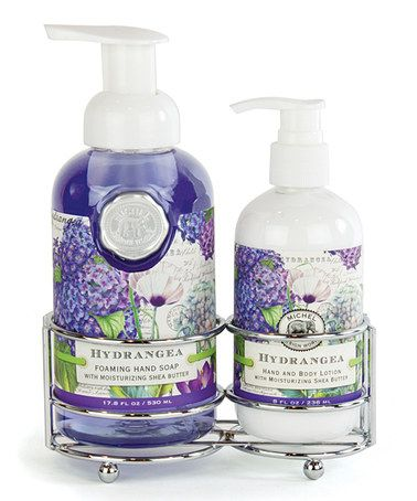 Take a look at this Hydrangea Soap & Lotion Caddy Set by Michel Design Works @ convino.com