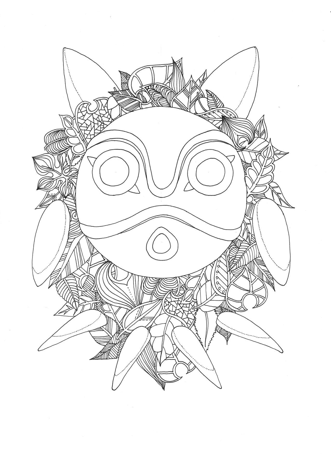 Lechocobo Files Wordpress Com 2016 07 Coloringtotoro 7 150pp Jpg Studio Ghibli Art Ghibli Totoro [ 1753 x 1275 Pixel ]
