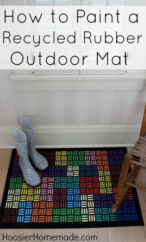 How To Paint A Recycled Rubber Outdoor Mat Outdoor Mat Recycled Rubber Rubber Door Mat