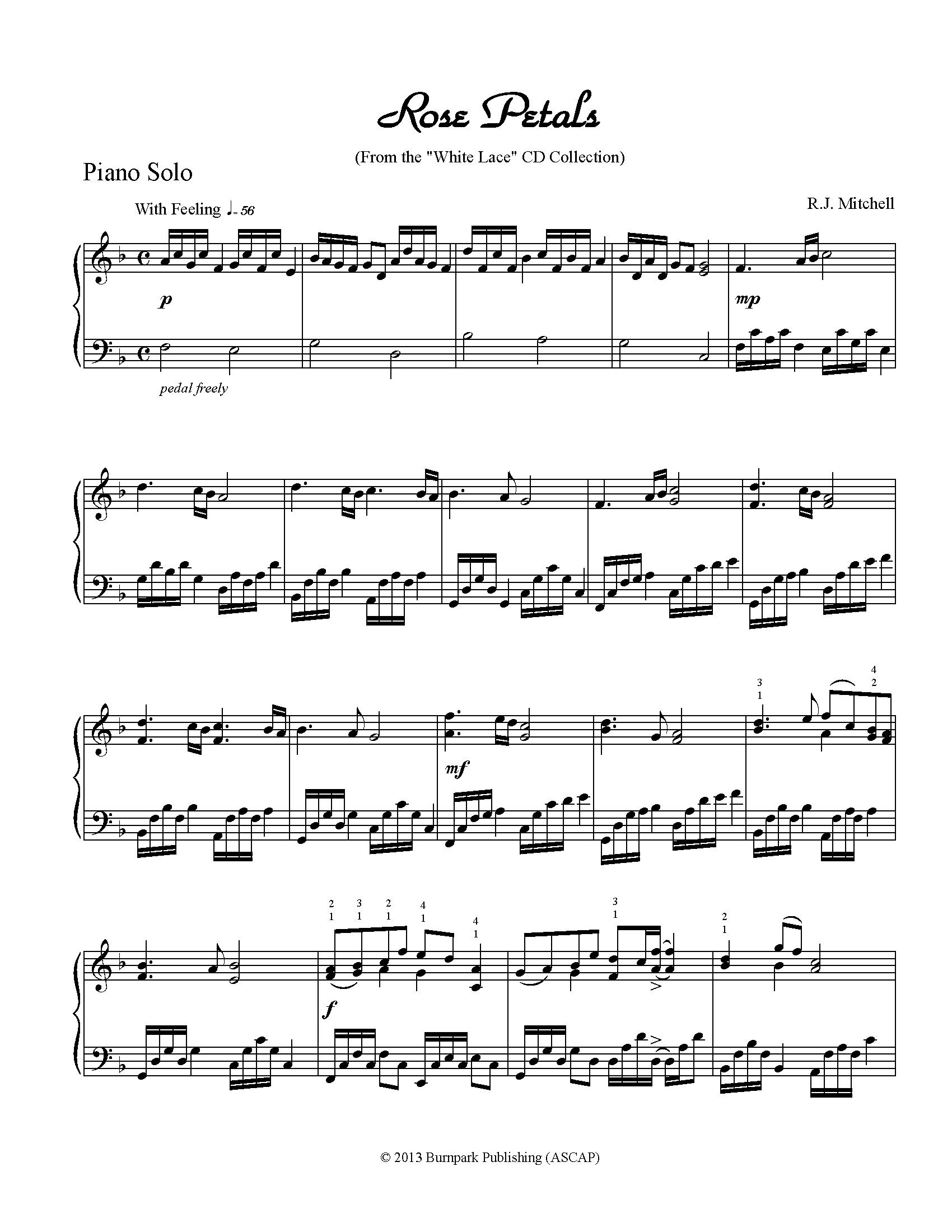 Rose Petals From The White Lace New Classical Wedding Music CD Is A Perfect Processional For Bride Or Bridal Party And
