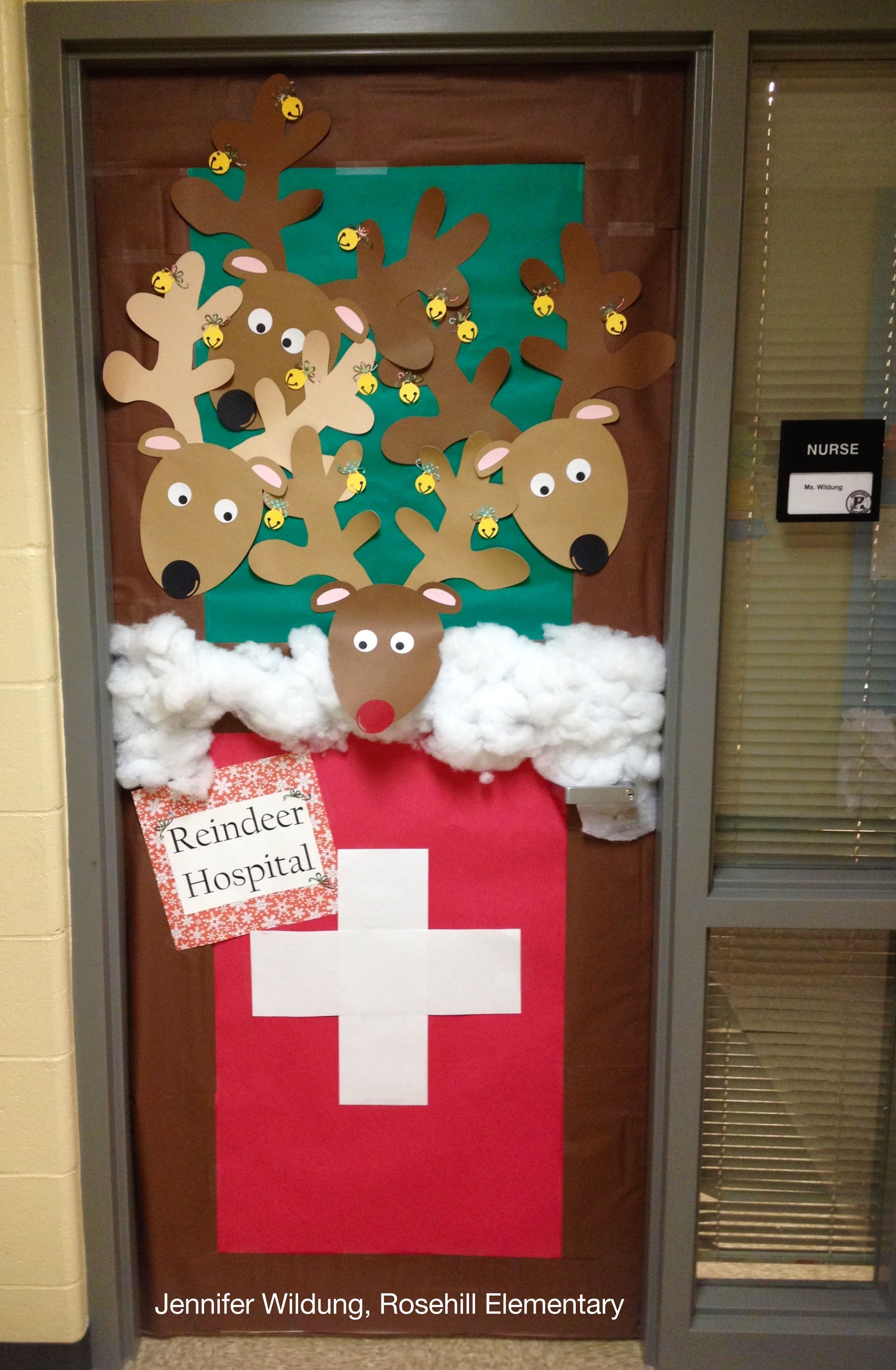 Reindeer Hospital - door decor | My Bulletin Boards ...