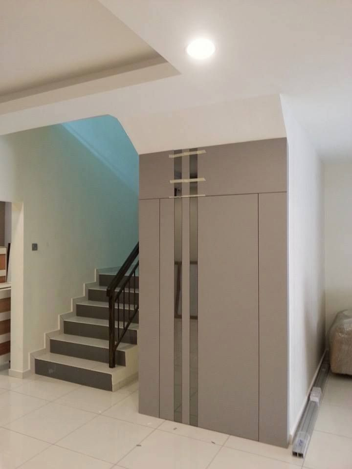 Staircase Partition Hiddendoor Woodwork Mirror Goldencarpentry Malaysia Living Room Design Modern Hidden Door Living Room Designs
