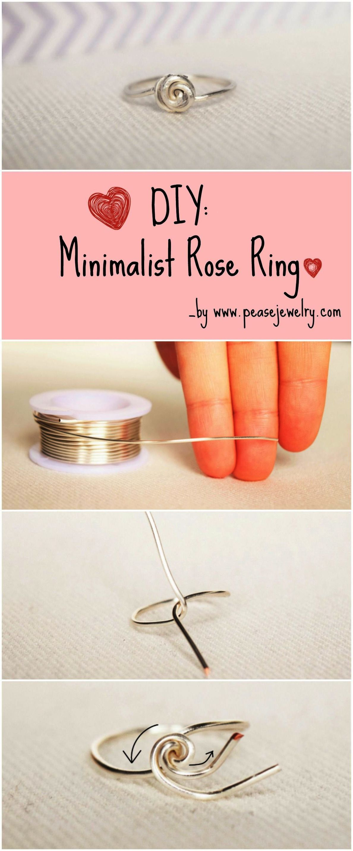 Make Your Own Minimalist Rose Ring Easily with an 1mm wire (or more ...