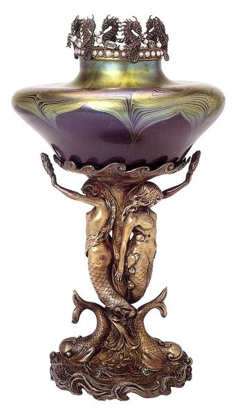 1897 vase from the incomparable Louis Comfort Tiffany