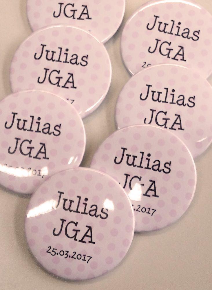 Gruppen Button Pünktchen Mit Namen Datum Hochzeit Jga