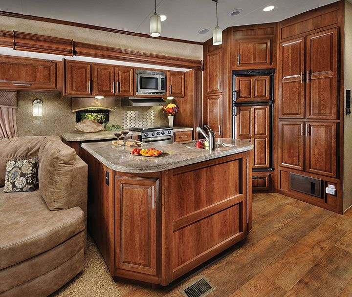 5th Wheel Floor Plans With Rear Kitchen Wildcat Fifth Wheel By Forest River Luxury Rv Living Luxury Rv Fifth Wheel Campers