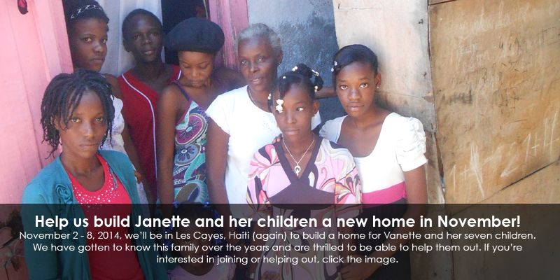One Small House - you can travel to Haiti with them to help build homes for the homeless!