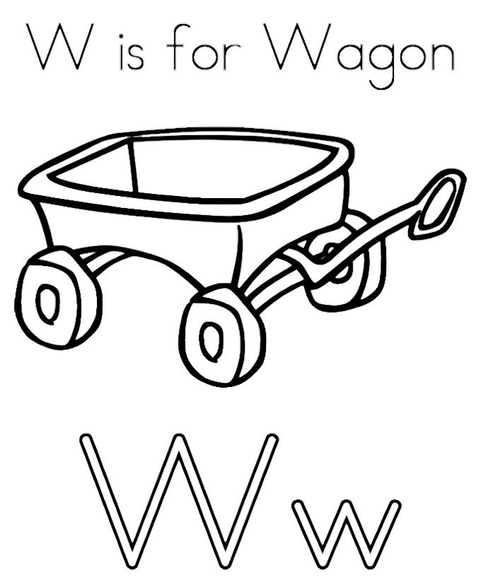 W For Big Wagon Coloring Pages