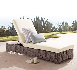 Palmetto All Weather Wicker Single Chaise Lounge Honey In