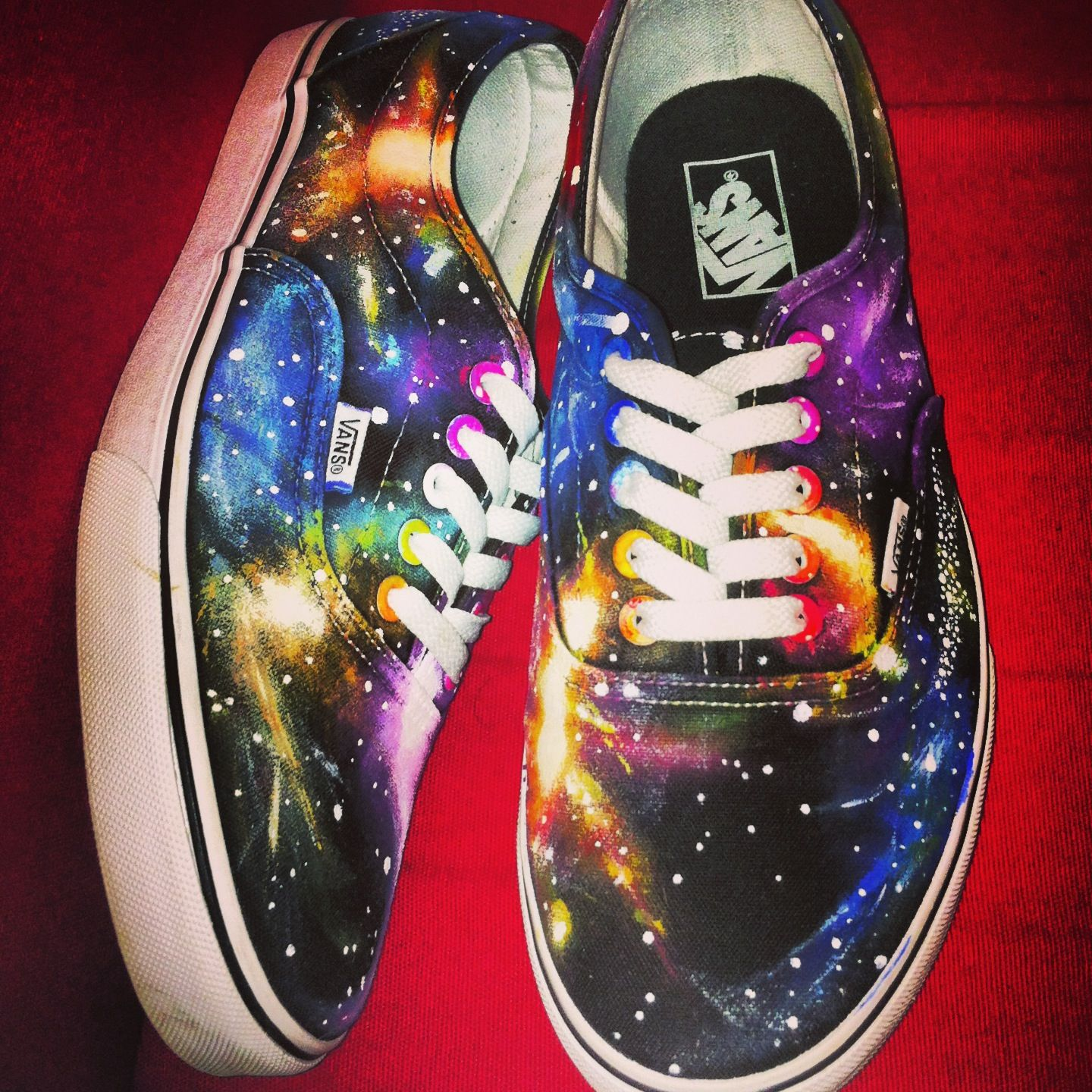 self painted galaxy vans awesome shoes pinterest