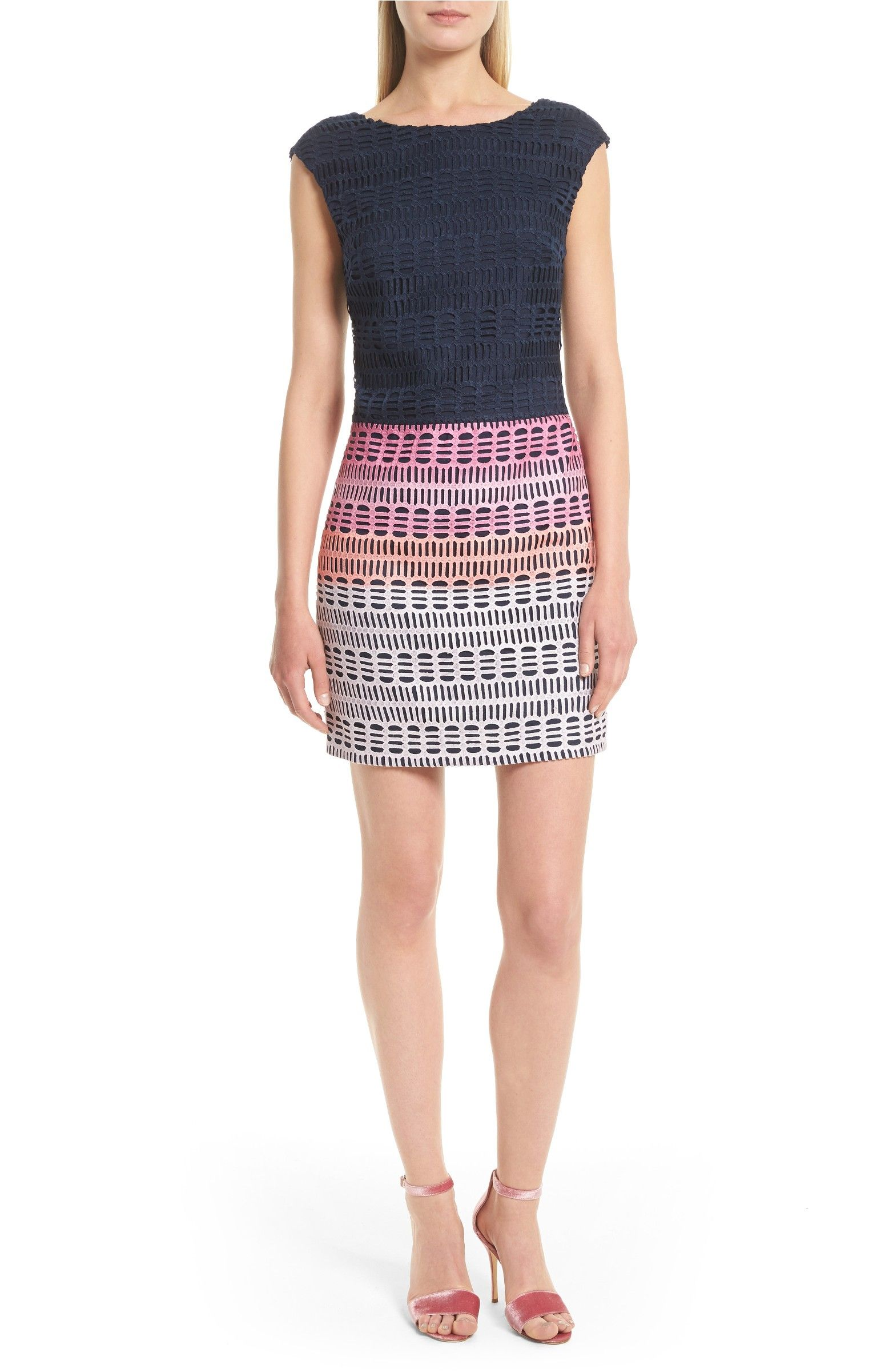 Main Image - Ted Baker London Dahil Marina Mosaic Lace Dress ...