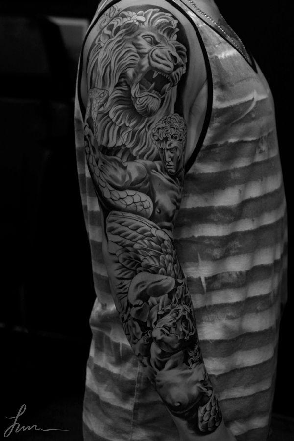 796ecd3e38bd3 Leo Tattoos, Body Tattoos, Tatoos, Lion Sleeve, Lion Tattoo Sleeves, Mens