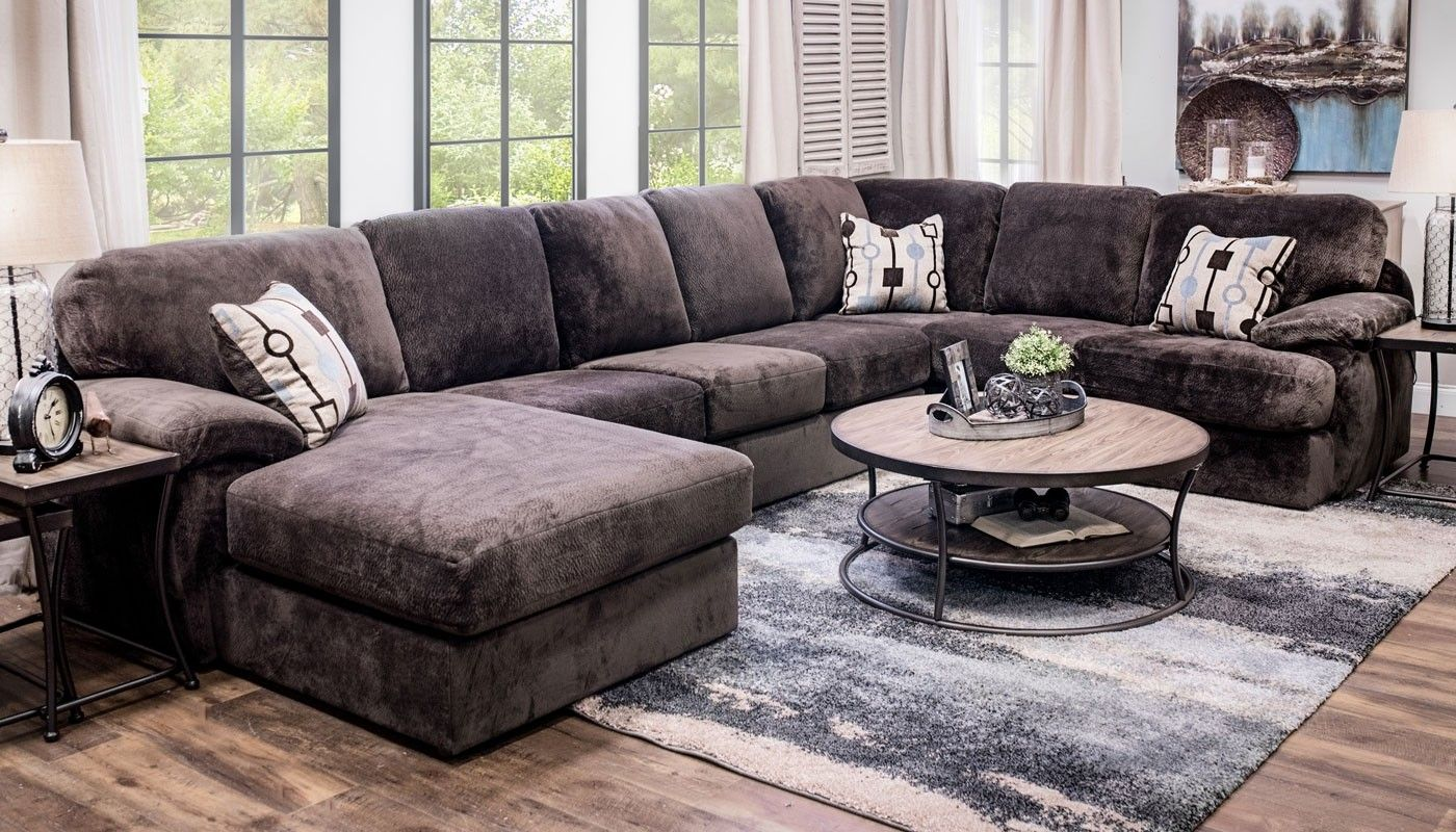Davenport Sectional With Chaise Home Zone Furniture Living Room Furniture Living Room Mattress Sets
