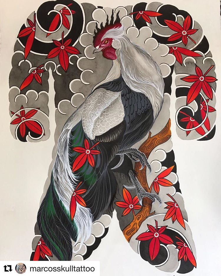 Repost tianyu_gaochao 🙏🙏 irezumi tattoo tattoosketch