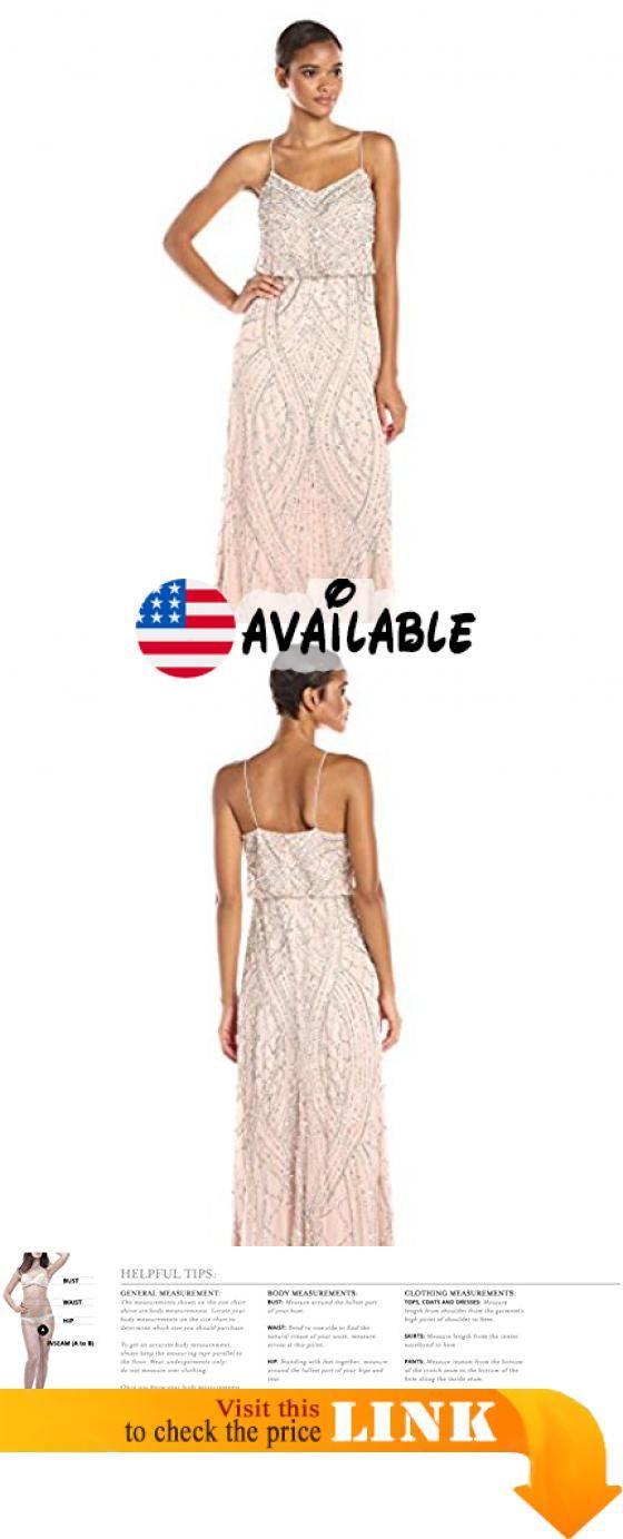 B012YFGC0K : Adrianna Papell Women\'s Sleeveless Beaded Blouson Gown ...
