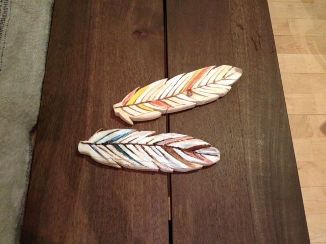 How to make wooden feathers #woodworking