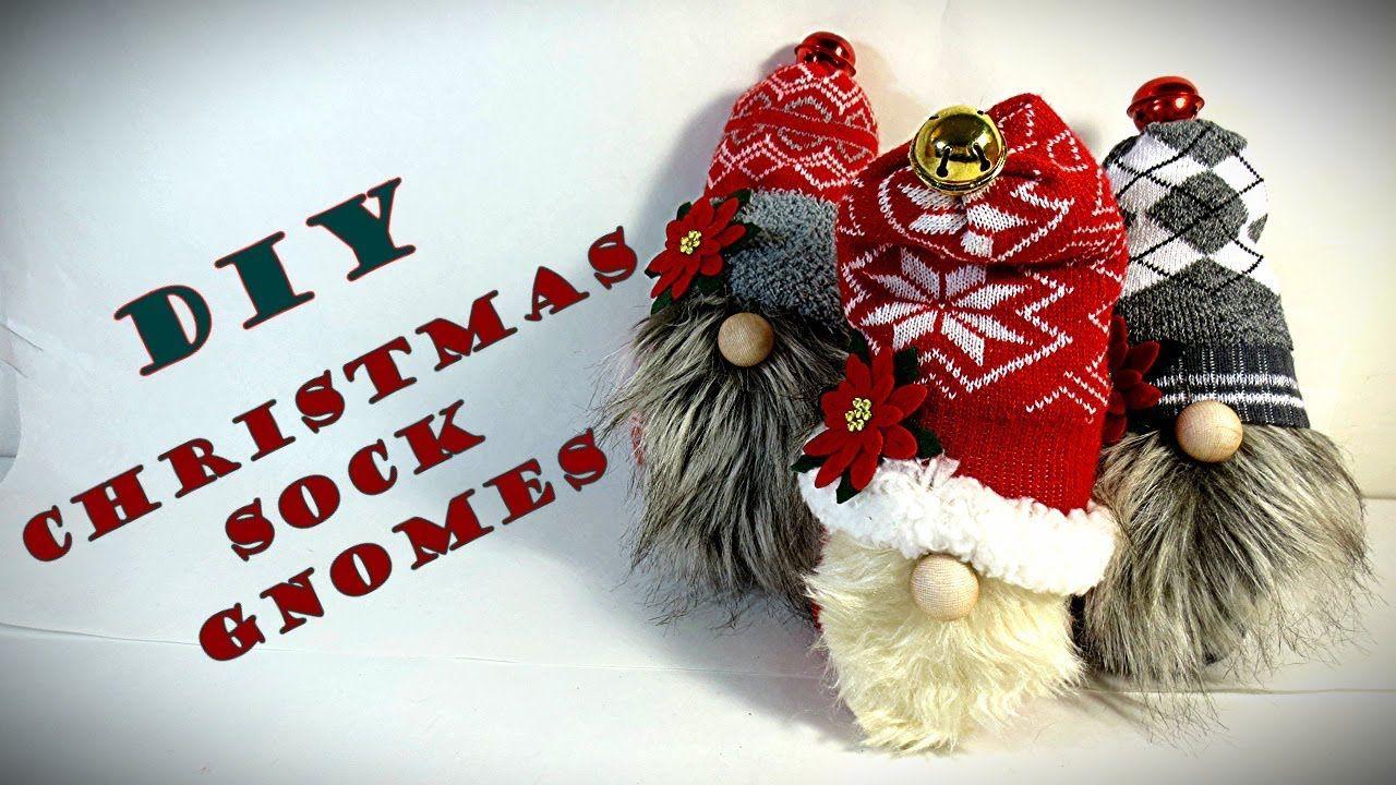 DIY CHRISTMAS SOCK GNOMES Christmas Decorations
