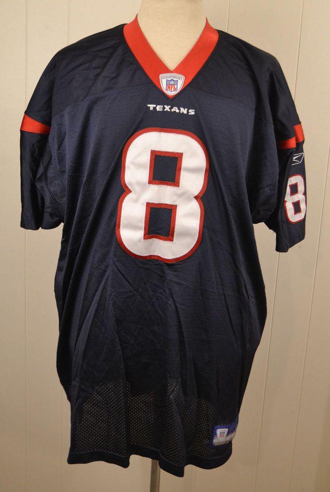 Authentic Reebok Houston Texans  8 David Carr NFL Football Jersey Adult 56  Sewn  Reebok  HoustonTexans 18e0886d2