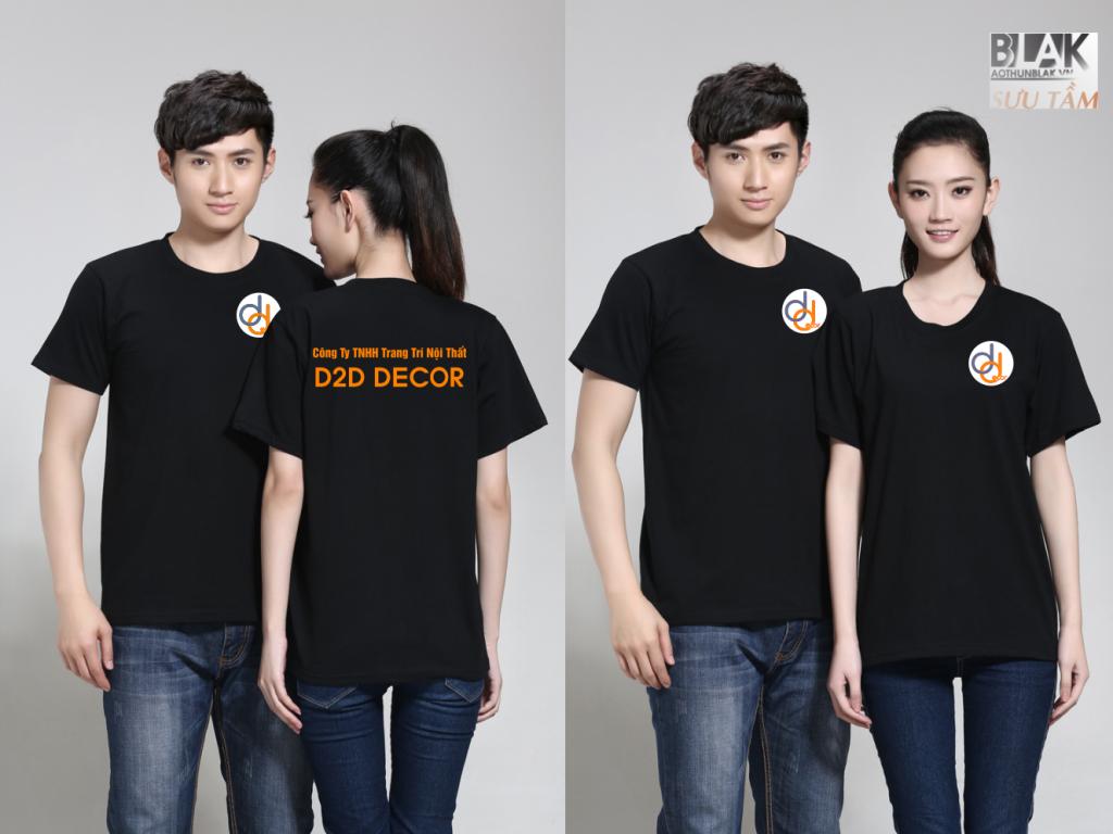 Mẫu áo thun đồng phục công ty Trang trí Nội Thất DTD DECOR - Hình 3