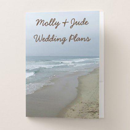 Romantic Beach Wedding Planning Folders Romantic beach, Wedding