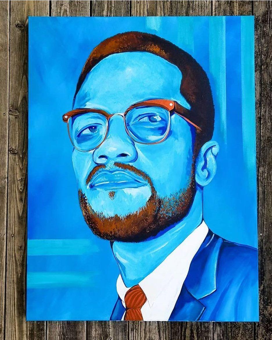 Malcolm x by lyfe_of_jayp on instagram black artists