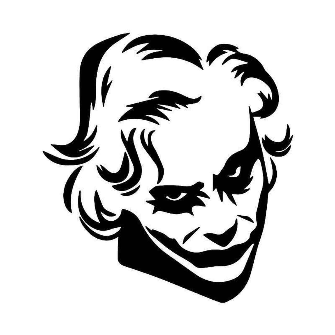 Joker Tattoo Sketch Joker Face Joker Drawings Joker Stencil