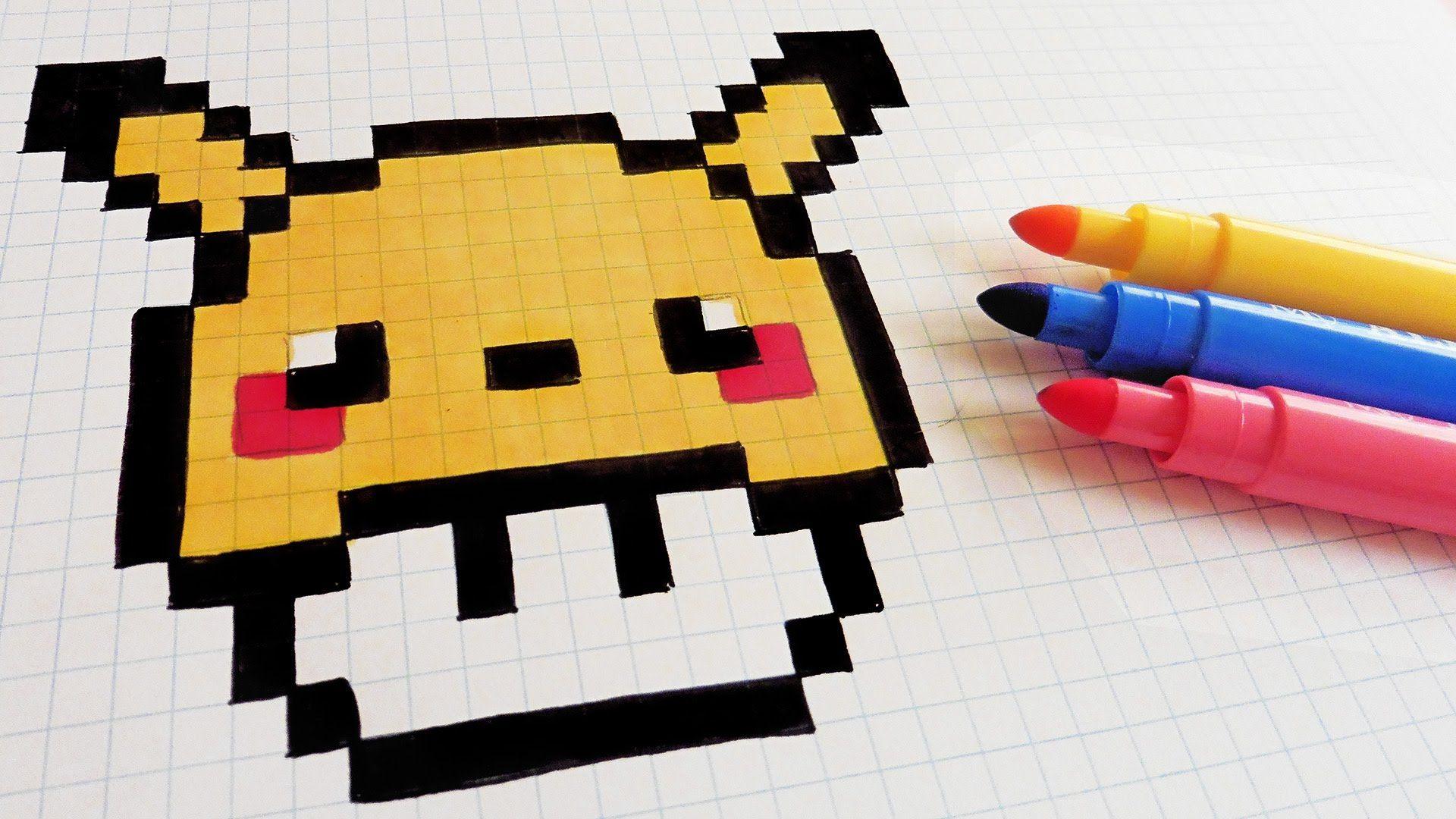 Handmade Pixel Art How To Draw Pikachu Mushroom Pixelart Pixel Art