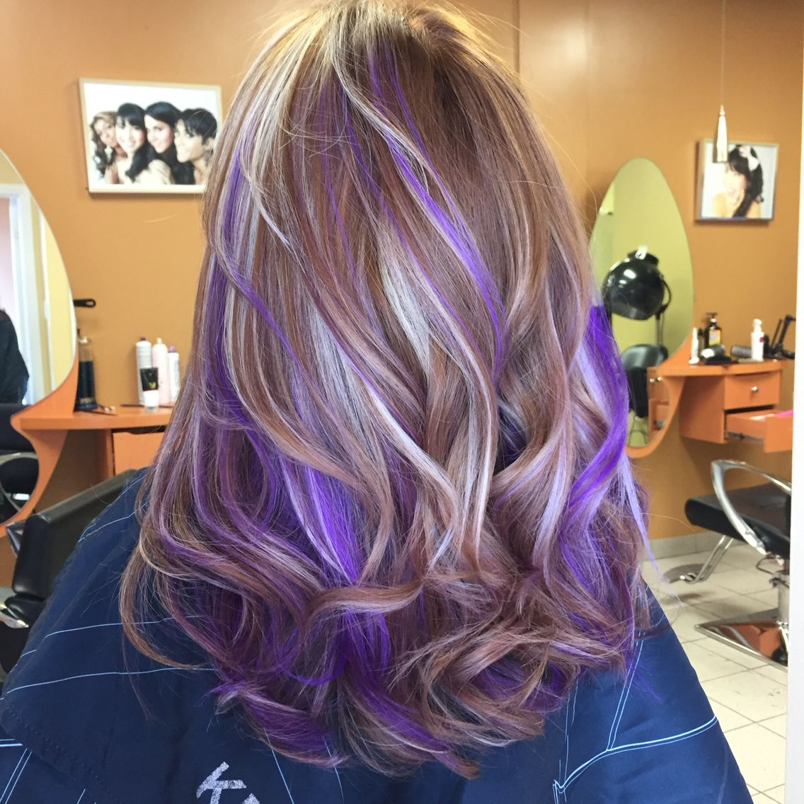 Pravana Purple Highlights Purple Hair Highlights Purple Hair Streaks Hair Highlights