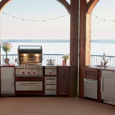 24 Outdoor Undercounter Refrigerator Stainless Door Outdoor Kitchen