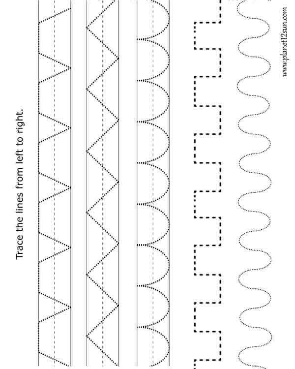 Tracing. Practice worksheet. Pre-K, VPK | Free printable WORKSHEETS ...