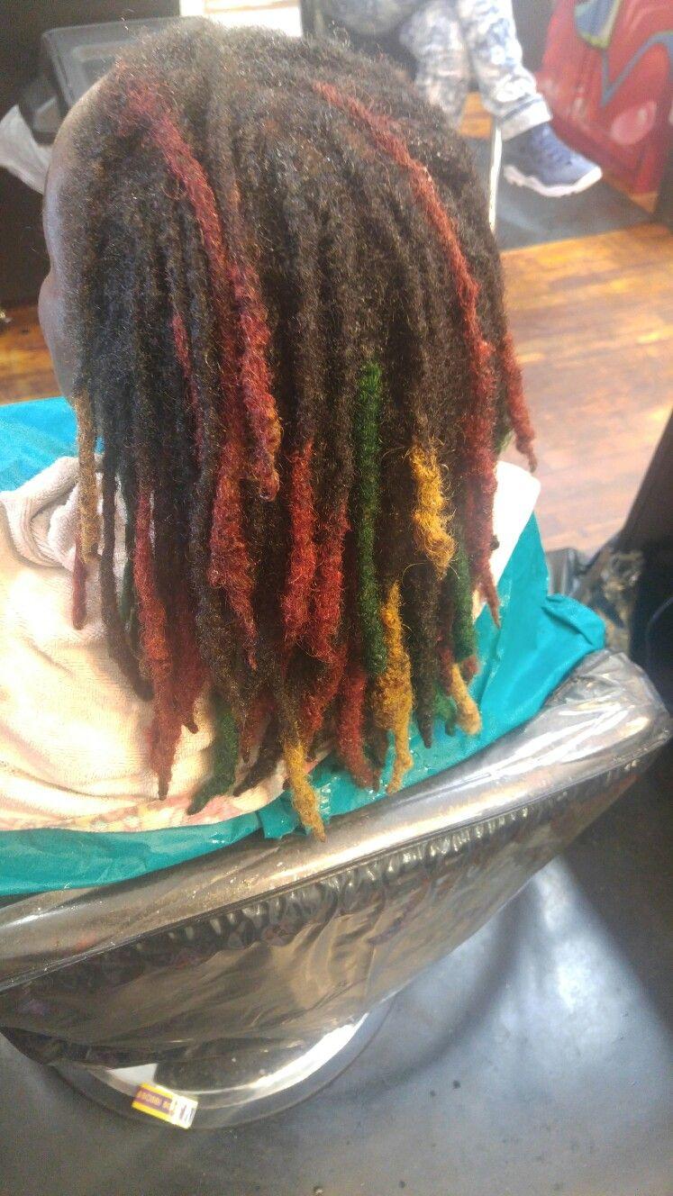 Rasta Colored Dreads Hair Hair And More Hair Pinterest