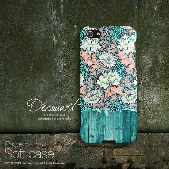 Mint+floral+iPhone+5+case+iPhone+5s+case+iPhone+4+case+by+Decouart,+$23.99