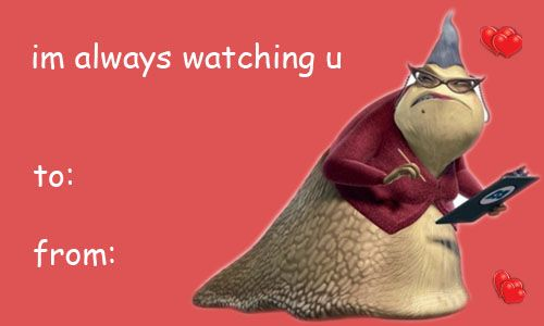 Monsters Inc Valentine Yes funny stuff – Cheesy Valentines Day Cards