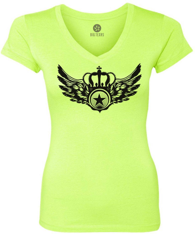 Crown Star (Black) Women's Short-Sleeve V-Neck T-Shirt