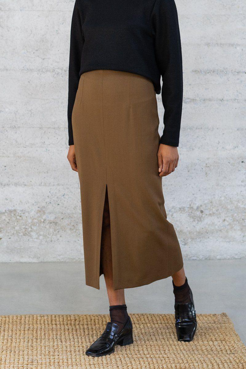 6169dd012e JISSE Long pleated chevron skirt in 2019 | Products | Skirts, Chevron skirt,  Kilt skirt