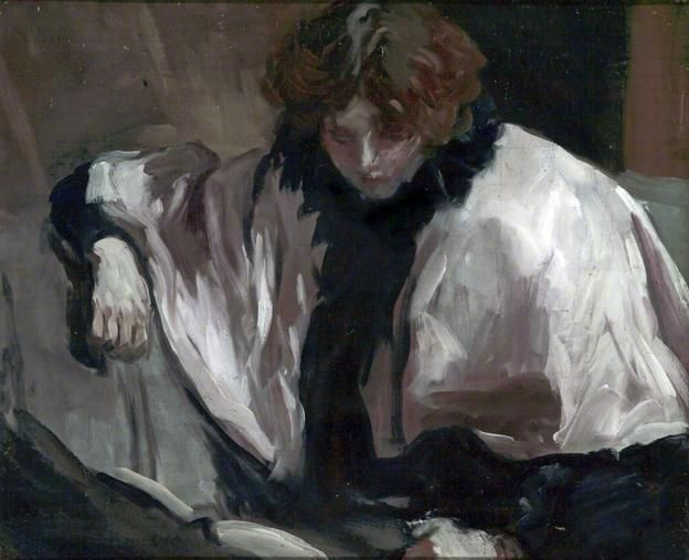A Girl Reading a Book, 1895  by Philip Wilson Steer