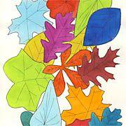 Popart - Herbstlaub mal ganz bunt