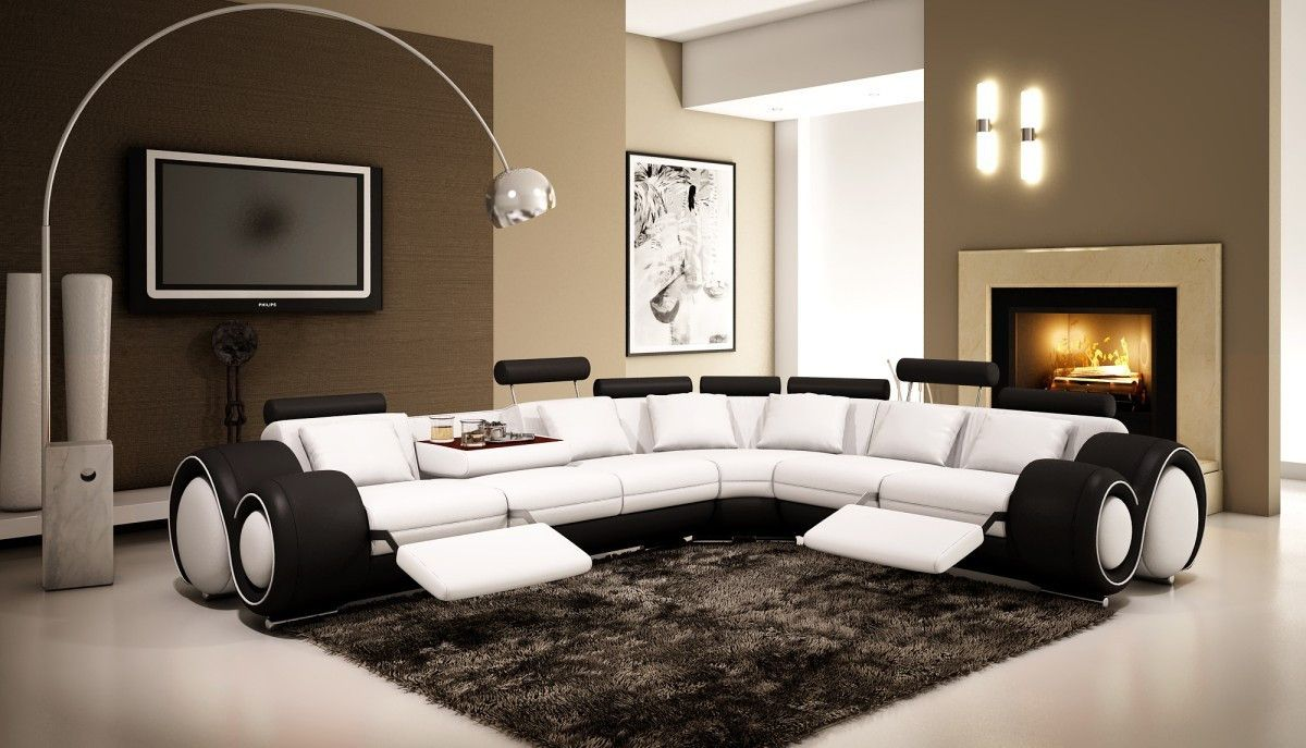 Modern Bonded Leather Sectional Sofa With Recliners Set Below 50000 Divani Casa Vgev4087 6 For 2192 Product 12797 15151 Feature Dimensions Left Facing 3 Seater