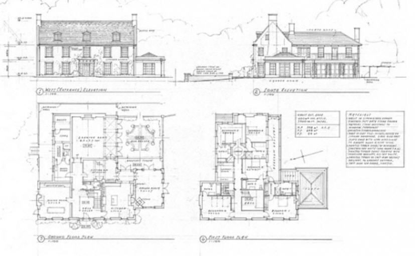 Georgian Farm House Floor Plan 1 Farmhouse Plans Traditional Building House Floor Plans