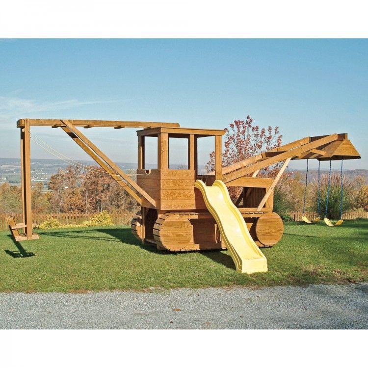 Amish Made Bulldozer Playground Set