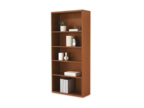 Hon R 10700 Series Tm Prestigious Laminate 5 Shelf Bookcase 71in H X 32 3 8in W X 13 1 8in D Henna Cherry Bookcase Shelves Office Furniture Design