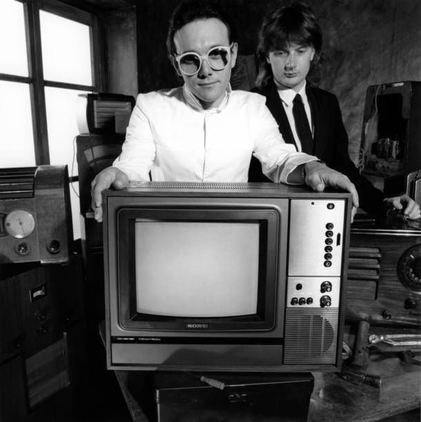 The Buggles with frontman Trevor Horn.   Travor Horn influenced the sound of the 80's. Whizz Bang!  (Fairlight CMI was used for the first digital samples)