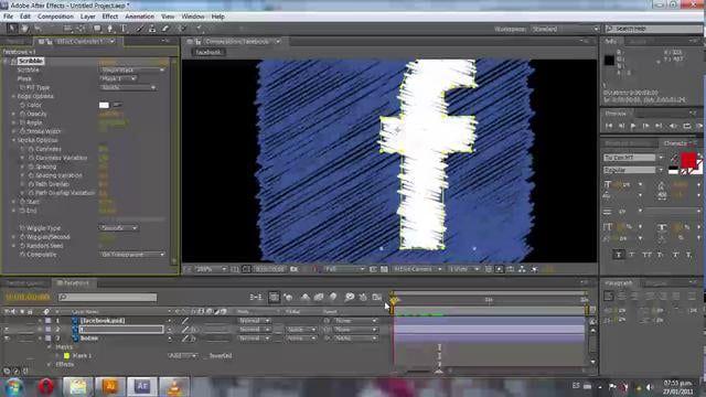 Tutorial de After Effects para animar con el efecto Scribble iconos de redes sociales.  Mas tutoriales en http://estudiodeepred.com/blog