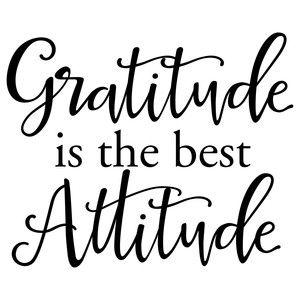 Silhouette Design Store: Gratitude Is The Best Attitude