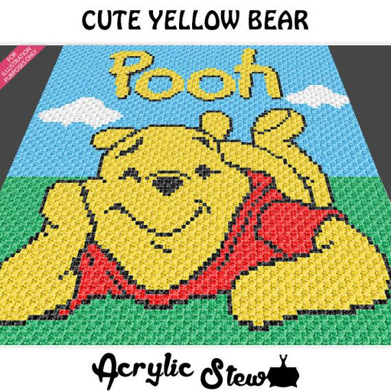 Baby Graphgan Pattern - Corner to Corner - C2C Crochet - Cartoon ...