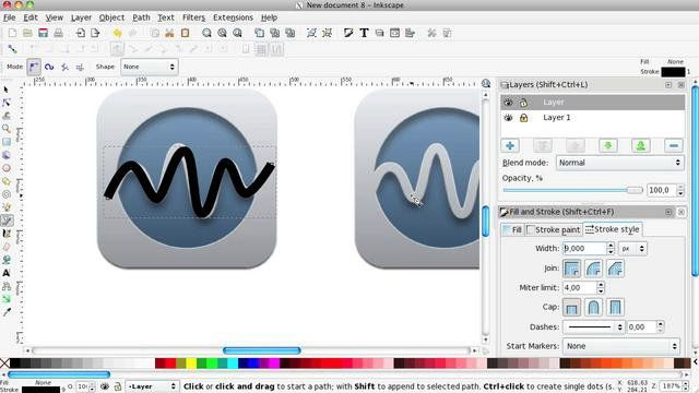 Inkscape turorial: iPhone Cut Out Icons | Gimp tutorial and Icons
