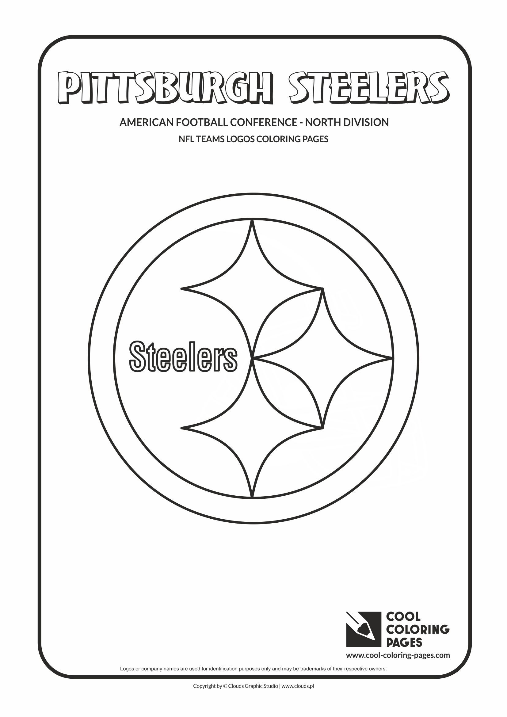 Pittsburgh Steelers Nfl American Football Teams Logos Coloring Pages