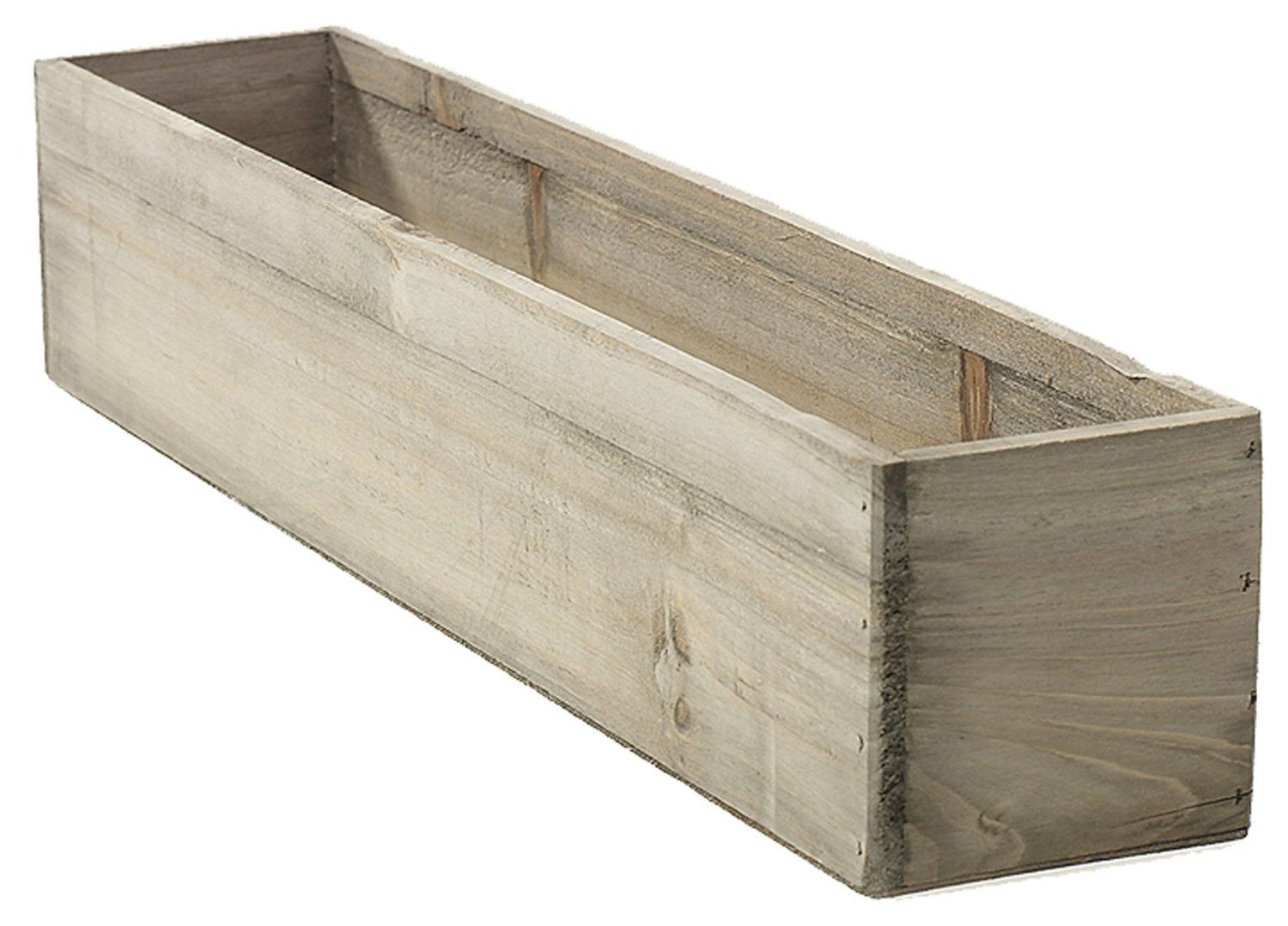 Amazonsmile 20 Rectangular Rustic Wood Planter With Plastic Liner Patio With Images Wood Planters Wooden Planters Pallet Planter