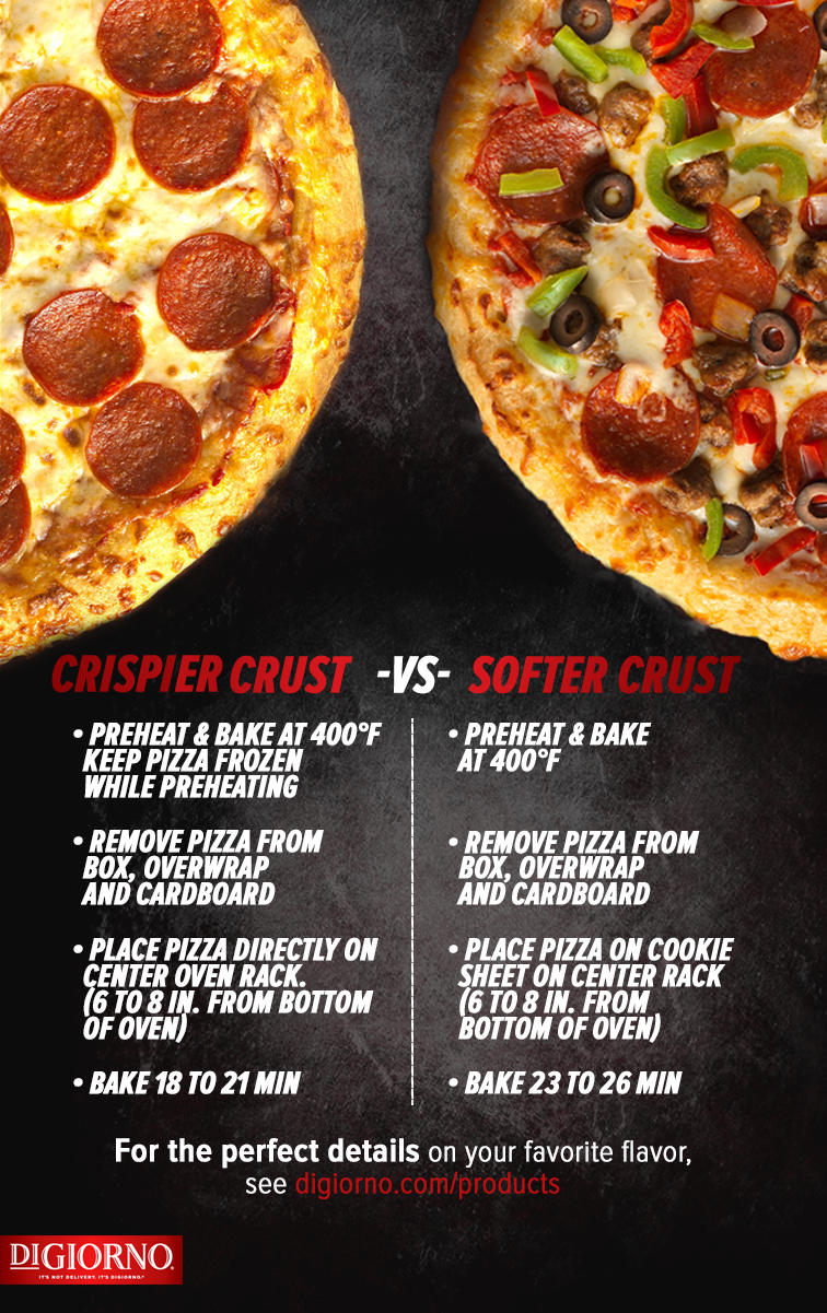 Whether You Prefer Crispy Or Soft Crust Cook Your Digiorno Pizza To Perfection With This Helpful Cooking Guide Make Any Occasion G Frozen Pizza Digiorno Food